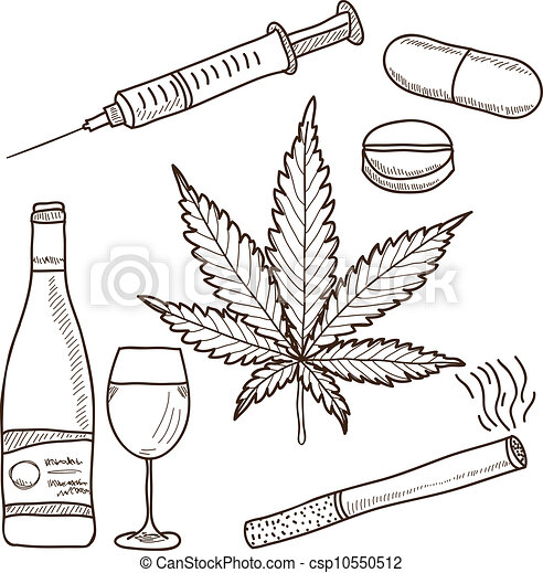 - marijuana, alcohol and other -... csp10550512 - Search Clipart ...
