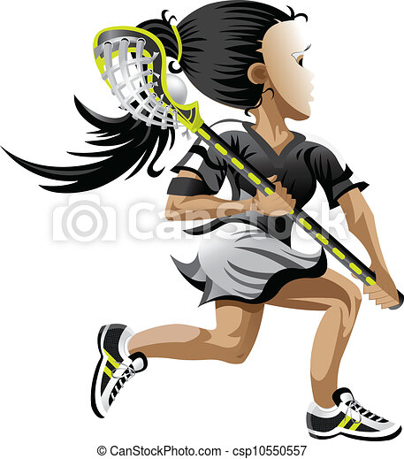 clipart vector of lacrosse girl girl playing lacrosse Girl Playing Lacrosse Clip Art Girls Lacrosse Draw