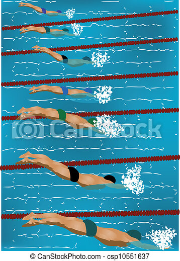 Swimming royalty free vector eps csp10551637 for Swimming pool drawing