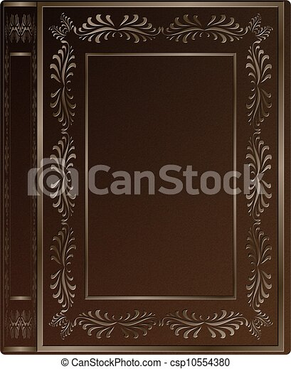 illustration de vieux livre couverture a brun cuir dur couverture csp10554380. Black Bedroom Furniture Sets. Home Design Ideas