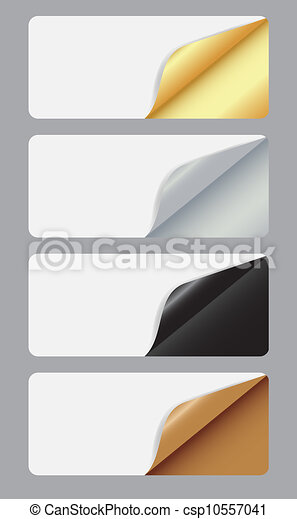 Banners with different corner and place for your text. vector illustration - csp10557041