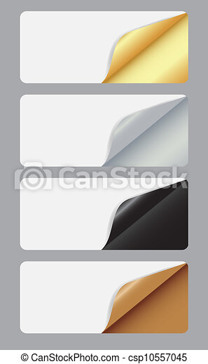 Banners with different corner and place for your text. vector illustration - csp10557045