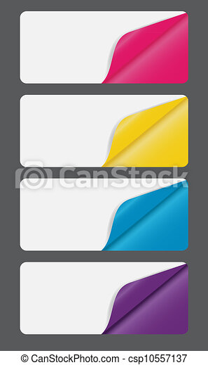 Banners with different corner and place for your text. vector illustration - csp10557137