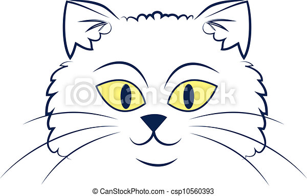 eps vectors of cat face outline large outlined cartoon sphynx cat clipart sphinx clip art images