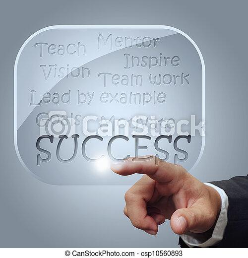 success flow chart in glass bubbles - csp10560893