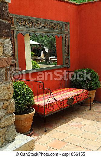 Courtyard of a villa - csp1056155