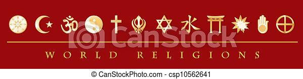 World Religions Banner - csp10562641