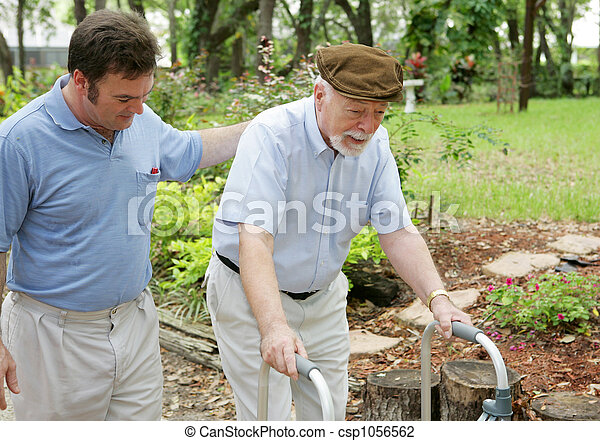 Son & Elderly Father - csp1056562