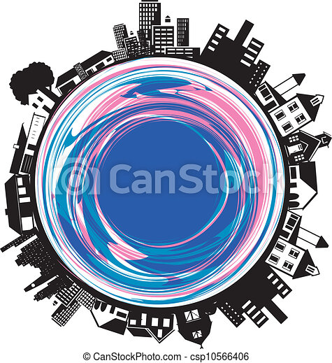 Buildings on a Circle - csp10566406