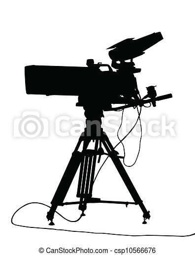vectors illustration of tv camera isolation silhouetted Movie Theater Screen Size Movie Theater Screen Size