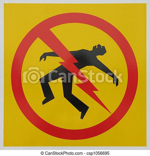 electrocution danger sign - csp1056695