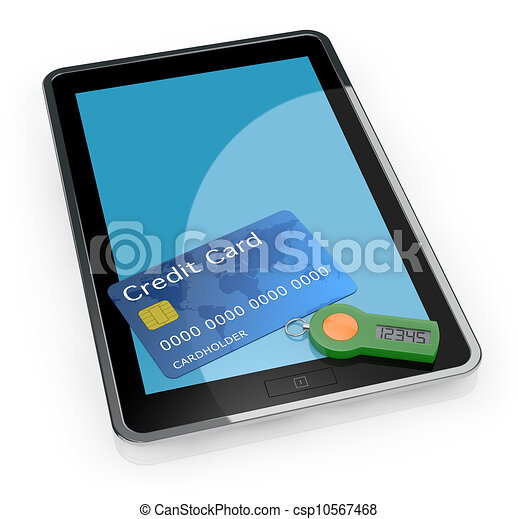 concept of online banking service - csp10567468