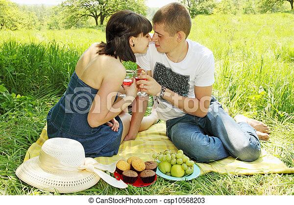 couple on a picnic - csp10568203