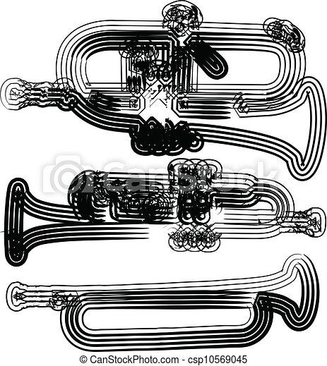 Music instrument vector illustration - csp10569045