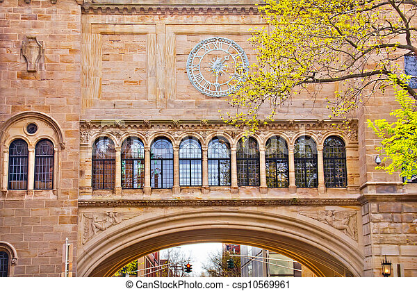 Stone Arch Yale University Art Building - csp10569961