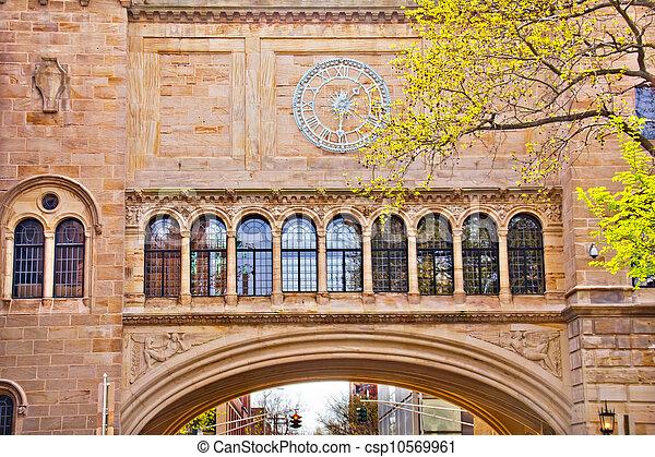 Stone Arch Yale University Art Building - csp10569961