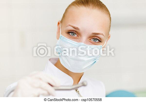 A portrait of a dental worker - csp10570558