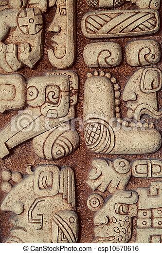 Mayan Hieroglyphs Detail - csp10570616