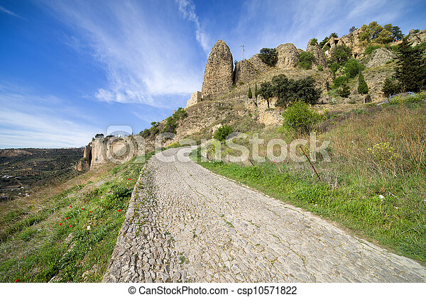 Rural Road in Andalusia Countryside - csp10571822