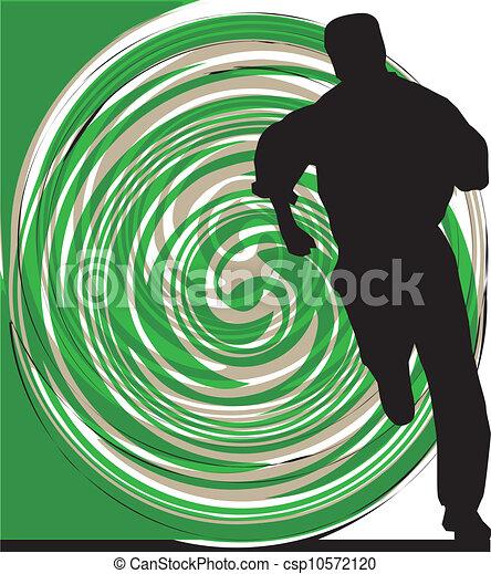 Businessman running. Vector illustr - csp10572120