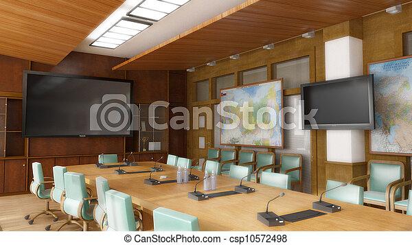 Interior, escritório - csp10572498