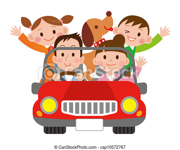 family travel in the car - csp10572767