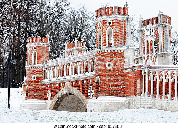 gothic bridge in Tsaritsyno park. R - csp10572881
