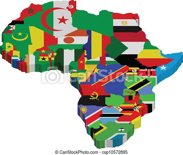 vecteurs eps de afrique drapeaux continent afrique