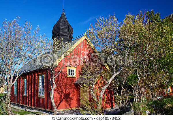 Old church in Nordland - csp10573452