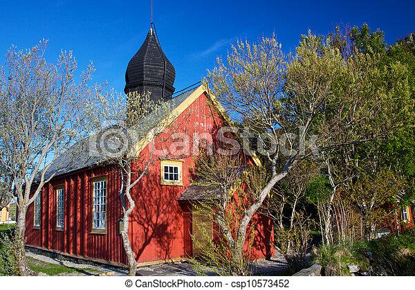 Old church in Nordland - csp10573452