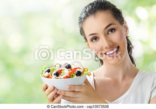 eating healthy food - csp10573508