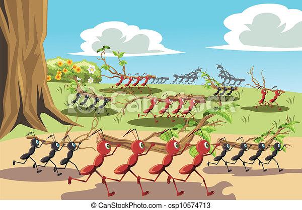 儿歌蚂蚁伴奏简谱