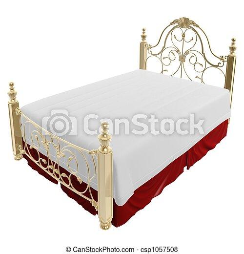 luxury bed - csp1057508