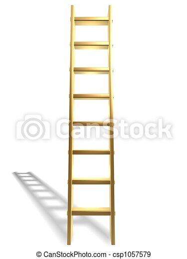 dorado, escalera, éxito - csp1057579