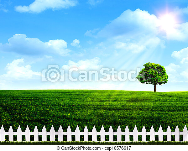 Summer time. Abstract rural landscape - csp10576617