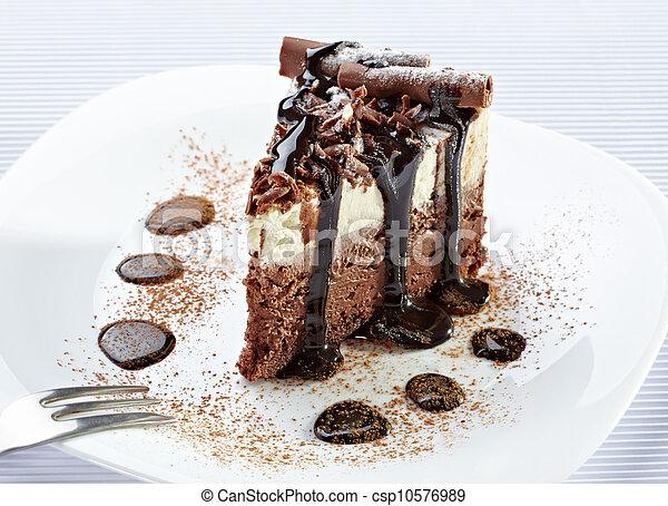 cream chocolate cake sweet food - csp10576989