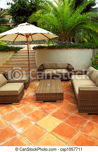 Patio of a villa - csp1057711