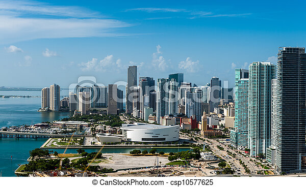Aerial view of Downtown Miami - csp10577625