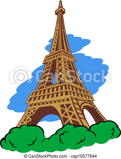 EPS Vector Of Eiffel Tower In Paris For Travel Design Csp10577844 Search Clip Art
