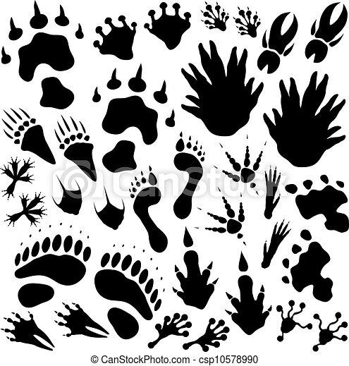 Alien monster footprints - csp10578990