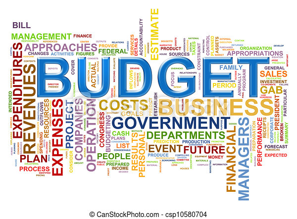 Stock Illustration of Budget word tags - Illustration of wordcloud ...