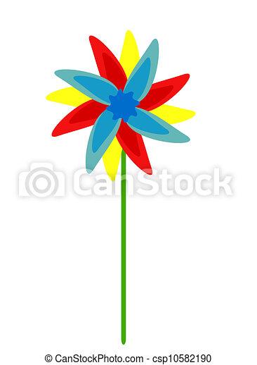 Colorful fan - csp10582190