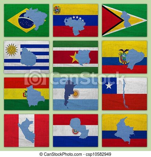 stock de ilustraciones banderas mapas sur am233rica