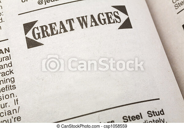 Great Wages - csp1058559