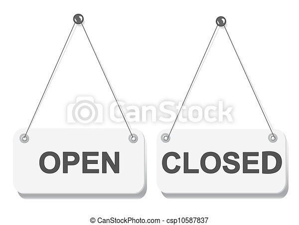 Closed Door Drawing drawings of open and closed door signs board isolated on white