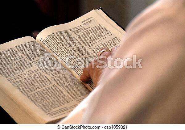 Reading Bible - csp1059321