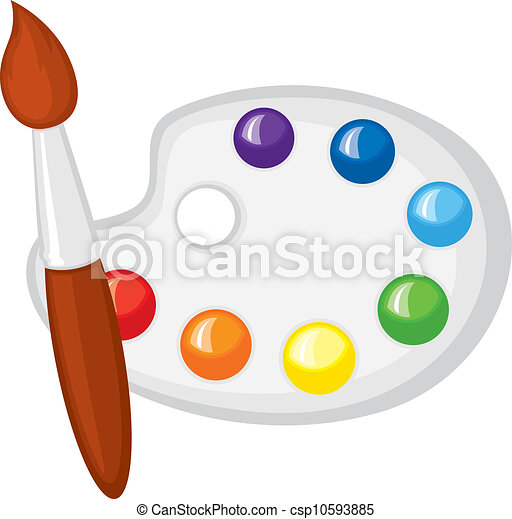 artist palette clipart