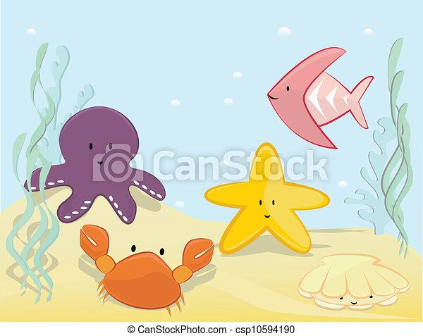 Underwater scenne -