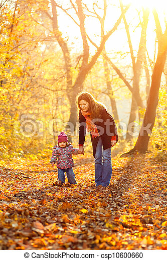 Mother and daughter in the park - csp10600660