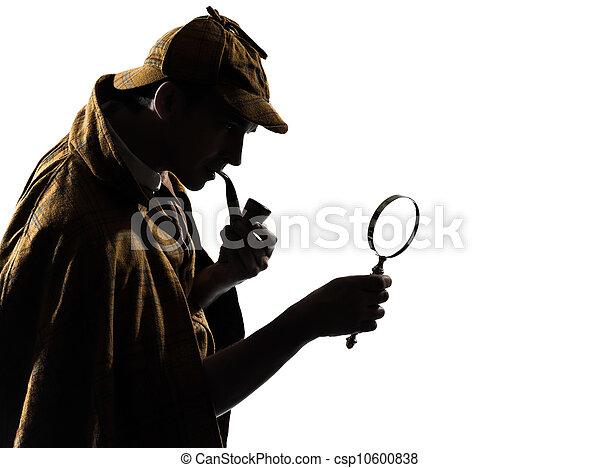 sherlock holmes silhouette - csp10600838